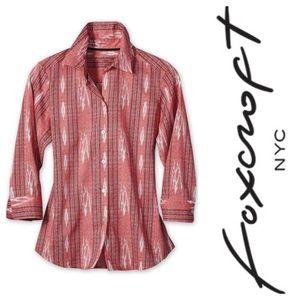 Foxcroft wrinkle free Shirt in ikat